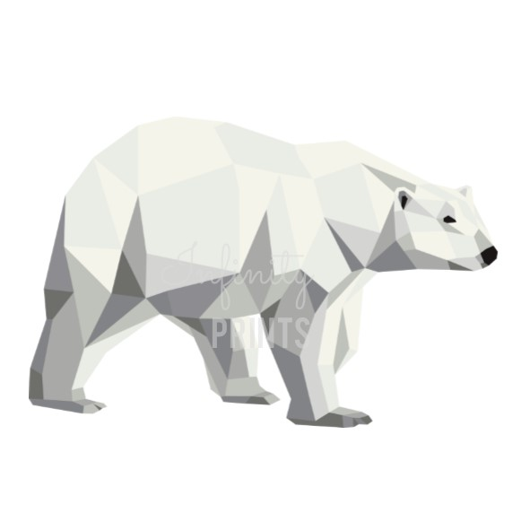 A4 Print - Geometric Polar Bear