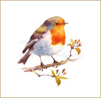 A4 Print - Robin on Branch