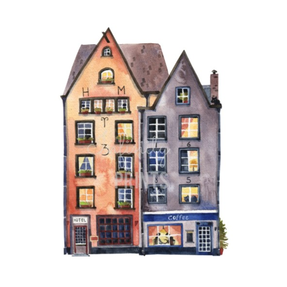 A5 Print - Hotel and Coffee Shop