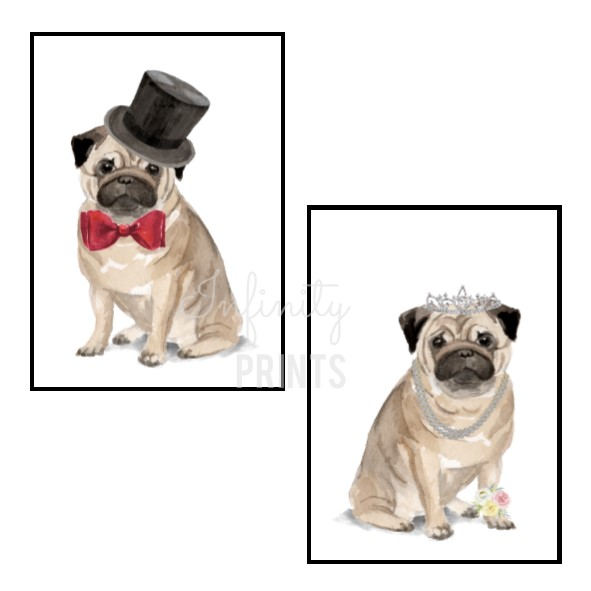 A4 Print - Pug Collection